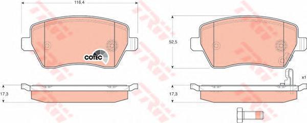 Колодки тормозные дисковые TRW/Lucas GDB3396GDB3396