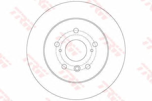Диск тормозной задний TRW/Lucas DF6176 комплект 2 штDF6176