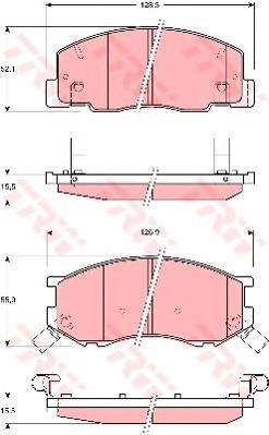 Колодки тормозные дисковые TRW/Lucas GDB3157GDB3157