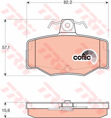 Колодки тормозные дисковые TRW/Lucas GDB3092GDB3092