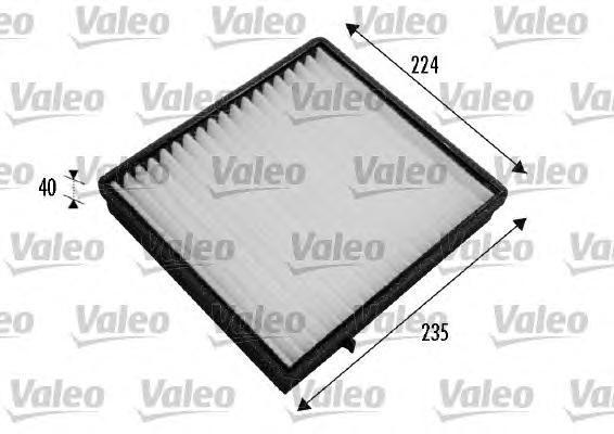 Фильтр салона Valeo 235 х 224 х 40 mm 698777