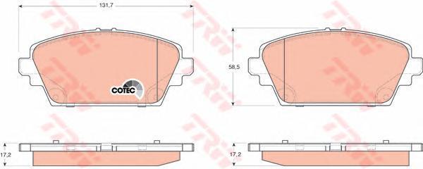 Колодки тормозные дисковые TRW/Lucas GDB3227GDB3227