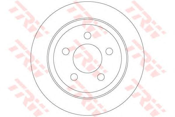 Диск тормозной задний D=320мм TRW/Lucas DF6386DF6386