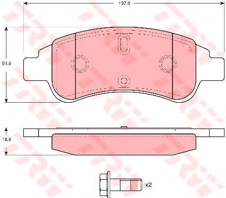 Колодки тормозные дисковые TRW/Lucas GDB1623GDB1623