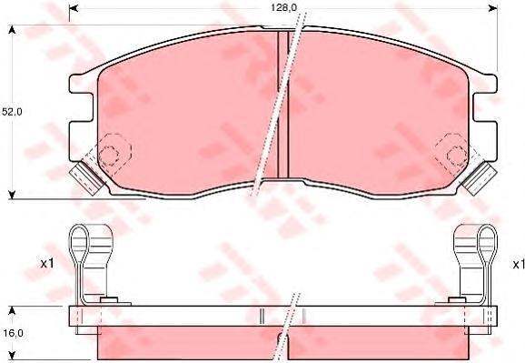 Колодки тормозные дисковые TRW/Lucas GDB1128GDB1128