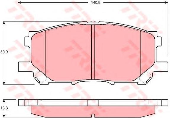 Колодки тормозные дисковые TRW/Lucas GDB3338GDB3338