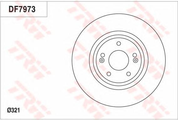 Диск тормозной передний вентилируемый D=321мм TRW/Lucas DF7973 комплект 2 штDF7973