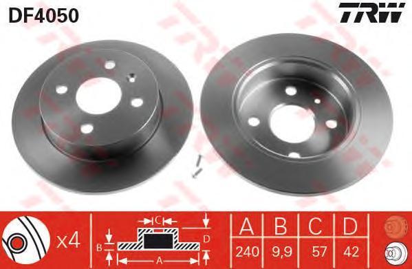 Диск тормозной TRW/Lucas DF4050 комплект 2 штDF4050