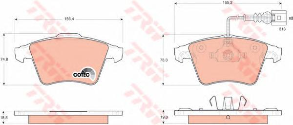 Колодки тормозные дисковые TRW/Lucas GDB1651GDB1651
