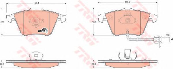 TRW / Lucas Колодки тормозные дисковые. GDB1659GDB1659