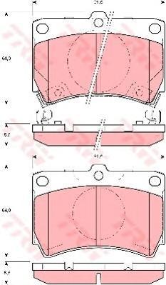 Колодки тормозные дисковые TRW/Lucas GDB3206GDB3206