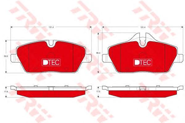 Колодки тормозные передние TRW/Lucas GDB1611DTEGDB1611DTE