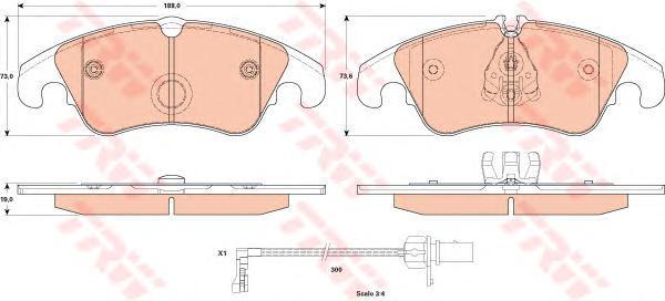 Колодки тормозные дисковые TRW/Lucas GDB1908GDB1908
