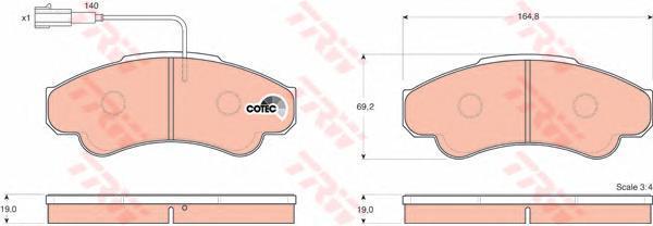 Колодки тормозные дисковые TRW/Lucas GDB1518GDB1518