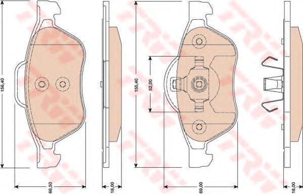 Колодки тормозные дисковые TRW/Lucas GDB1787GDB1787