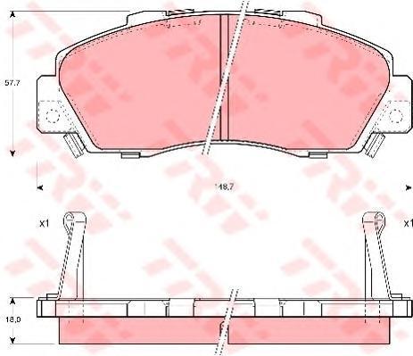 Колодки тормозные дисковые TRW/Lucas GDB995GDB995