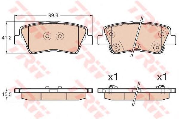 Колодки тормозные задние TRW/Lucas GDB3537GDB3537
