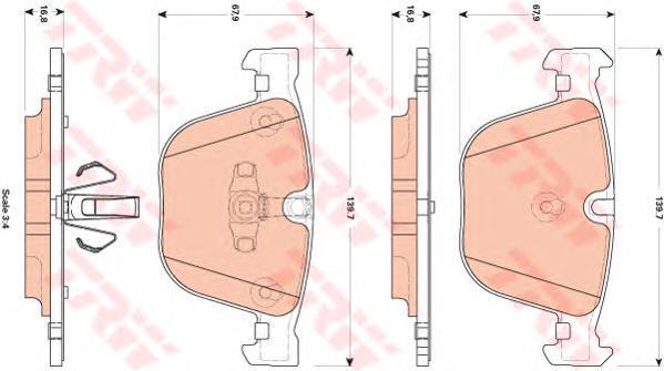 Колодки тормозные дисковые TRW/Lucas GDB1857GDB1857