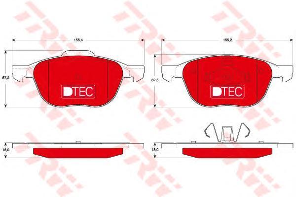 Колодки тормозные передние TRW/Lucas GDB1583DTEGDB1583DTE