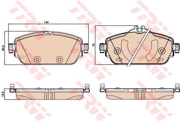 Колодки тормозные передние TRW/Lucas GDB2070GDB2070