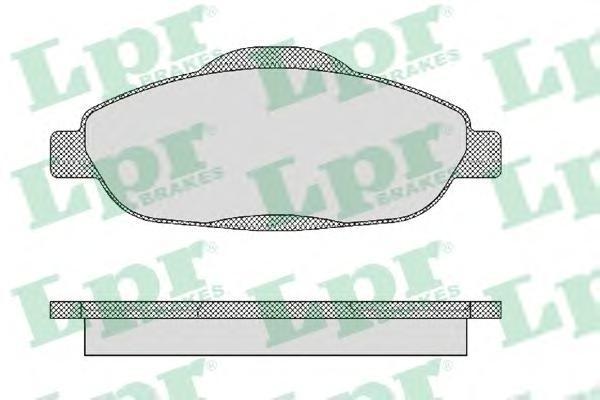 Колодки тормозные передние LPR / AP 05P147105P1471