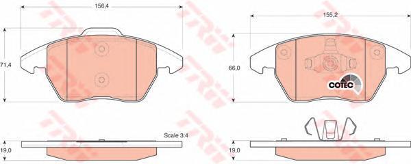 Колодки тормозные дисковые TRW/Lucas GDB1605GDB1605