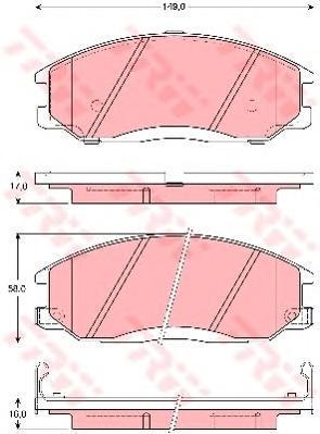 Колодки тормозные дисковые TRW/Lucas GDB3257GDB3257