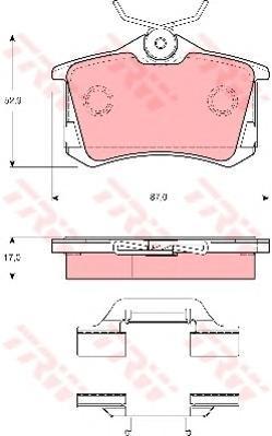 Колодки тормозные дисковые TRW/Lucas GDB1416GDB1416