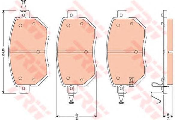 Колодки тормозные дисковые TRW/Lucas GDB3416GDB3416