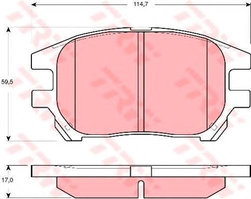 Колодки тормозные дисковые TRW/Lucas GDB3379GDB3379