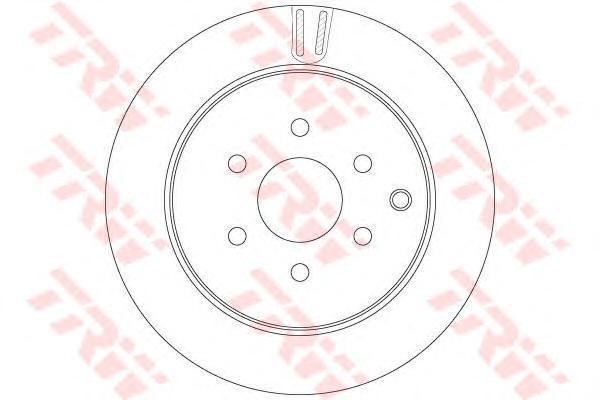 Диск тормозной задний TRW/Lucas DF6289DF6289