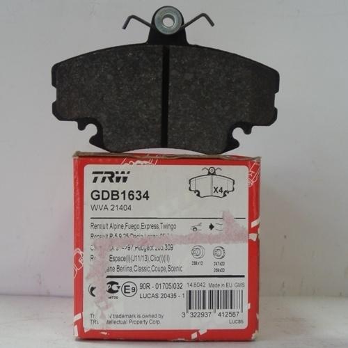 Колодки тормозные дисковые TRW/Lucas GDB1634GDB1634