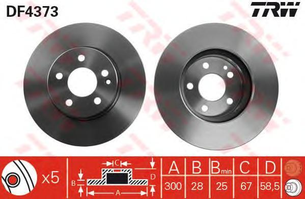 Диск тормозной TRW/Lucas DF4373DF4373