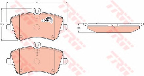 Колодки тормозные дисковые TRW/Lucas GDB1413GDB1413