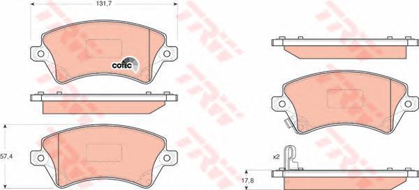 Колодки тормозные дисковые TRW/Lucas GDB3288GDB3288