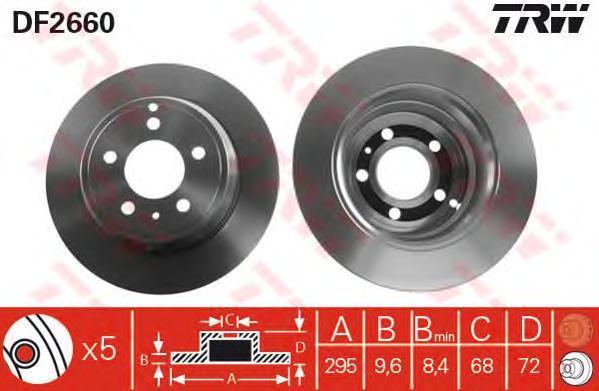 Диск тормозной TRW/Lucas DF2660 комплект 2 штDF2660