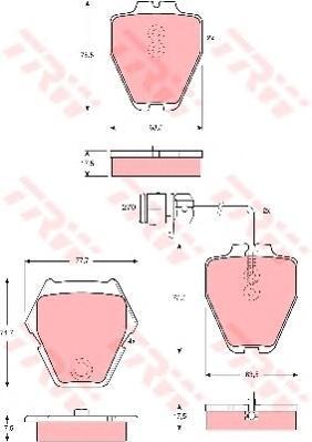 Колодки тормозные дисковые TRW/Lucas GDB1371GDB1371