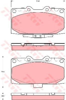 Колодки тормозные дисковые TRW/Lucas GDB3307GDB3307