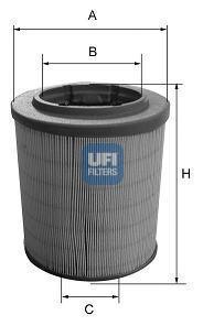 Фильтр воздушный UFI 27628002762800