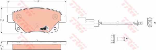 Колодки тормозные дисковые TRW/Lucas GDB1725GDB1725