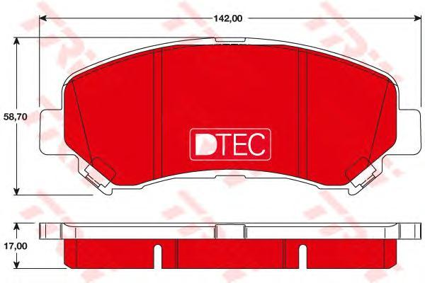 Колодки тормозные передние TRW/Lucas GDB3467DTEGDB3467DTE