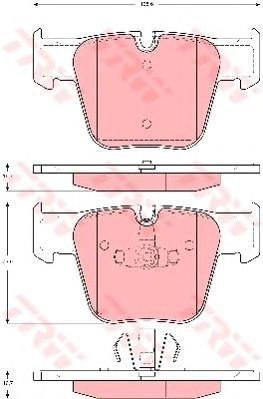 Колодки тормозные дисковые TRW/Lucas GDB1674GDB1674