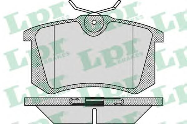 Колодки тормозные LPR / AP 05P868 868