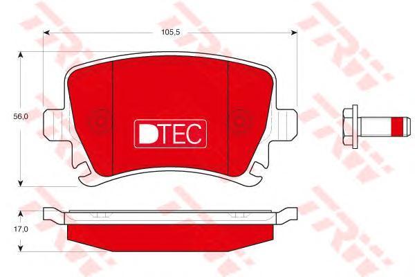 Колодки тормозные задние TRW/Lucas GDB1622DTEGDB1622DTE