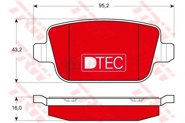 Колодки тормозные задние TRW/Lucas GDB1732DTEGDB1732DTE
