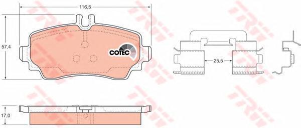 Колодки тормозные дисковые TRW/Lucas GDB1293GDB1293