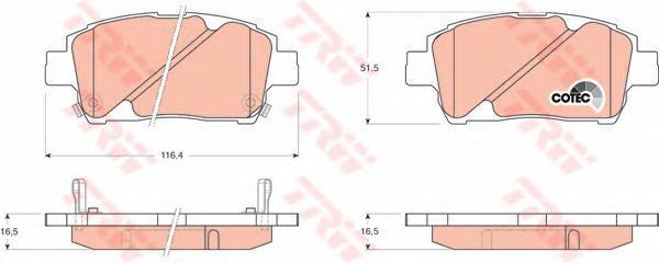 Колодки тормозные дисковые TRW/Lucas GDB3242GDB3242