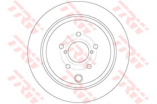 Диск тормозной задний TRW/Lucas DF6306 комплект 2 штDF6306