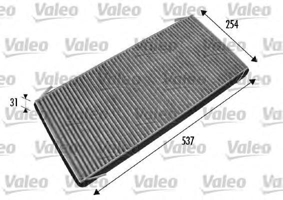 Фильтр салона угольный Valeo 537 х 254 х 31 mm 698776