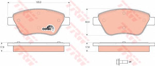 Колодки тормозные дисковые TRW/Lucas GDB1579GDB1579